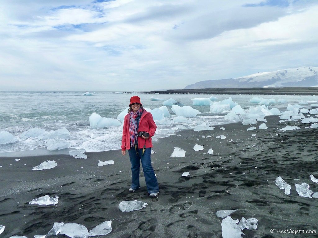 La laguna Jökulsárlón en Islandia